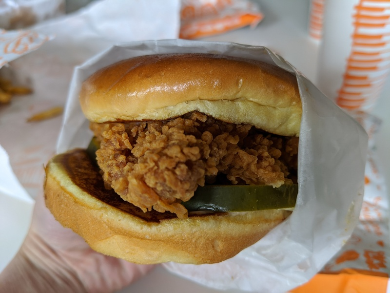 Popeyes Louisiana Kitchen sandwich